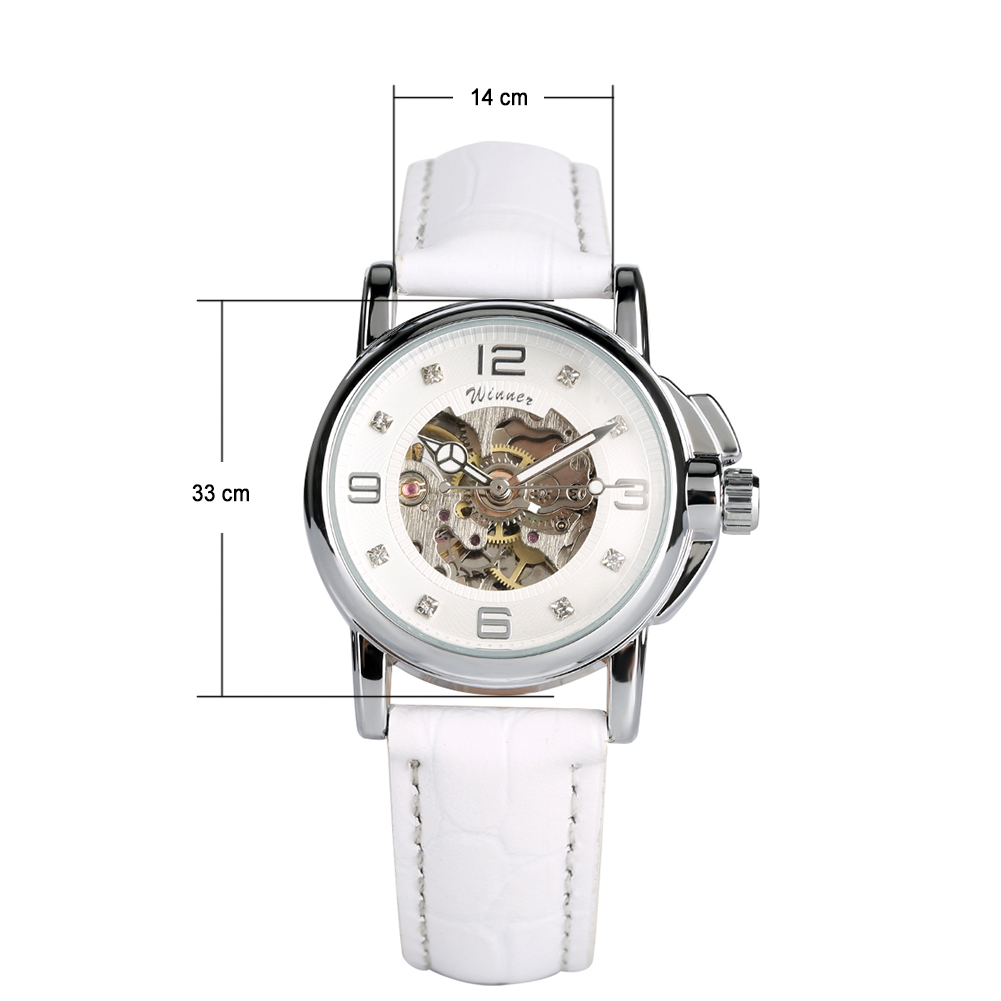 Women's Watch Automatic Mechanical Watch Ladies Clock Skeletons Wristwatch Hollow Out Automatic-self-winding