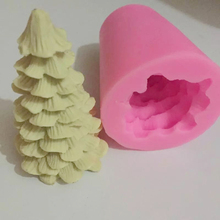 3D Christmas Tree High Quality Candle Mold Handmade DIY Crafts Silicone Soap Shaped Easy 1 Pcs Cake Mold