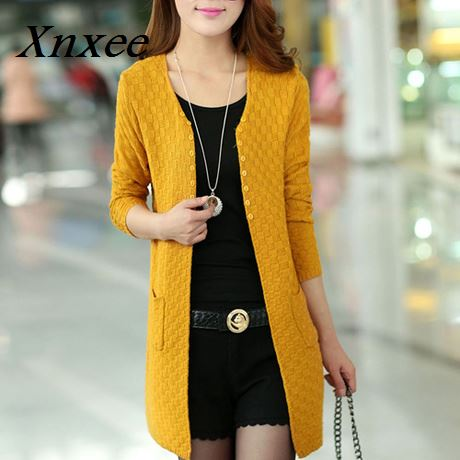 Women Sweater Long Cardigan Fashion Summer Style Long Sleeve Thin Knitted Cardigan female Sweaters Fast Shipping Xnxee in Cardigans from Women 39 s Clothing