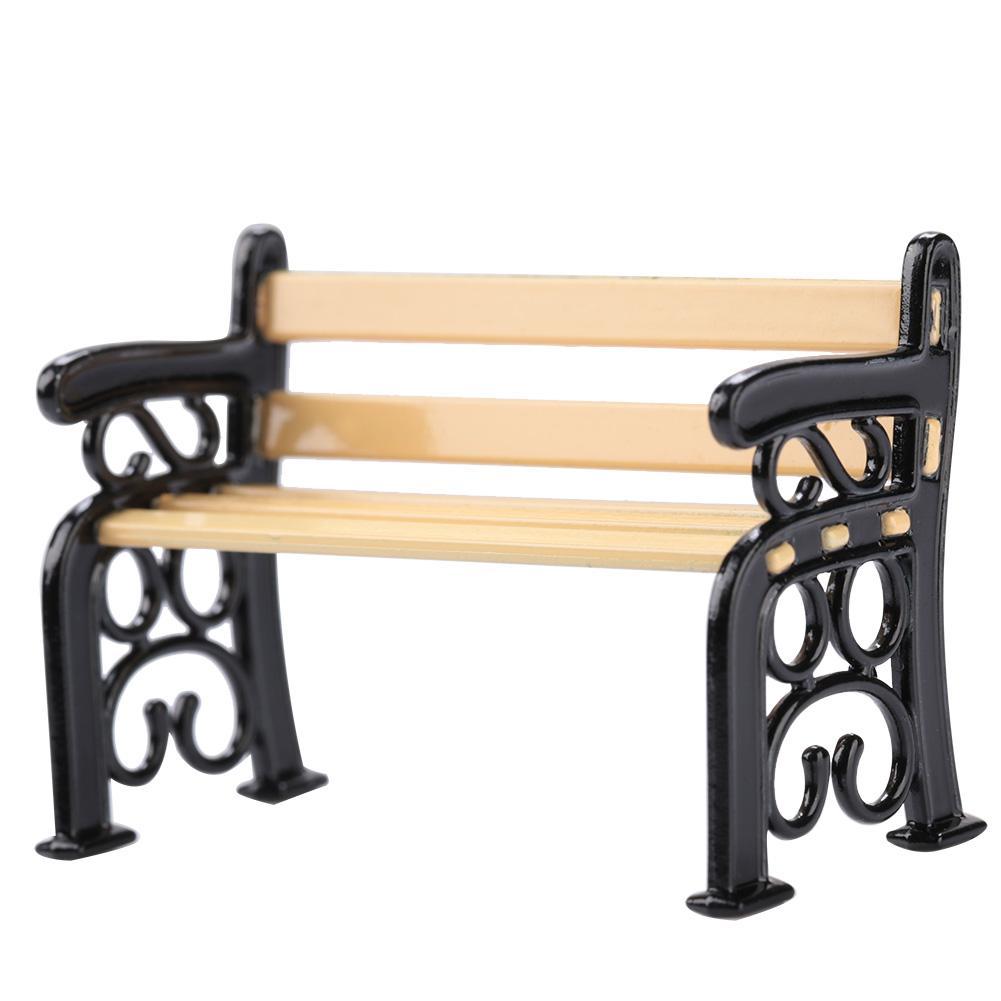 1:12 Miniature Furniture Chair Doll Garden Patio Park Bench Dollhouse Accessory