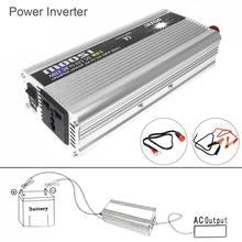1500W Car Power Inverter DC 12V 24V to AC 220V 110V USB Power Charger Converter Car Inverter Peak Power 3000W