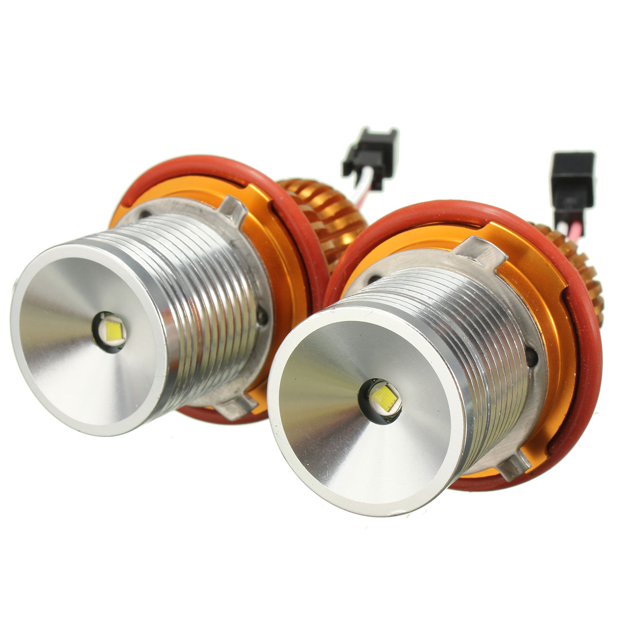 10 W (5 W * 2 Stks) 12 V Led Koplamp Angel Eyes Halo Ringen Bulb Lamp 6000 K 1200lm Wit Licht Voor Bmw E39/e60 X3 X5