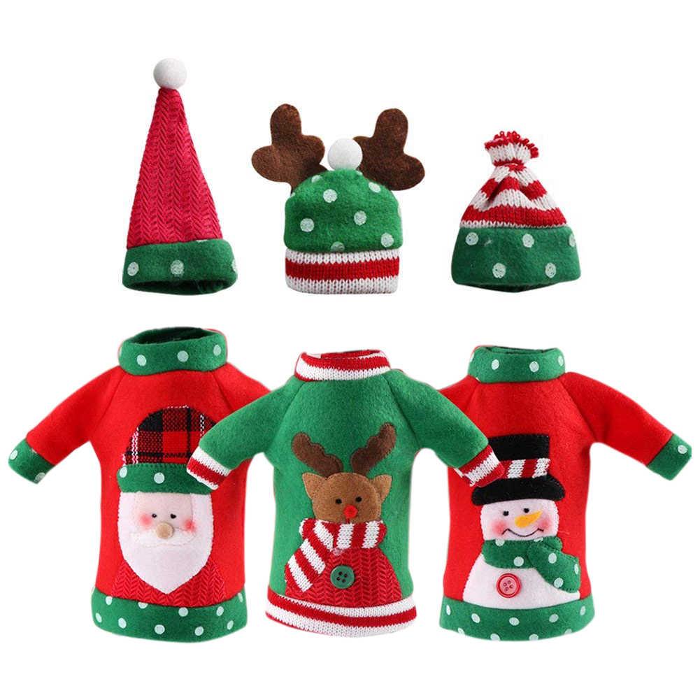Wine Christmas Sweater.3pcs Ugly Christmas Sweater Wine Bottle Cover Handmade Wine Bottle Sweater For Christmas Decorations Ugly Christmas Sweater P