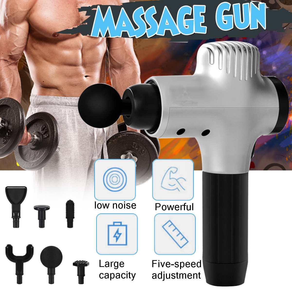 Appareil de Massage hyper-ajusté pour les muscles silencieux appareil de Massage musculaire pour le Sport appareil de Massage en profondeur pour le corps détendez-vous avec 6 têtes de Massage