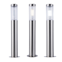 Stainless Steel Outdoor waterproof led Garden Light with E27 bulb Led Landscape Yard Lawn Path Lamp include 7W Bollard Light