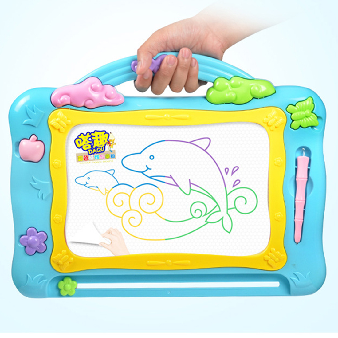 Magnetic Drawing Toys Learning Enlightenment Graphics Tablet For Children Educational Painting Board Drawing Gift- Color Random
