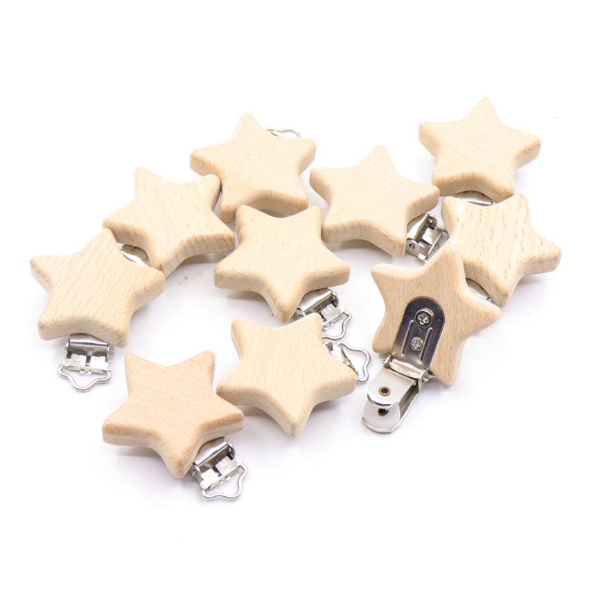 5PCs Nipple Chain Accessories BPA Free Cute Modelling Beech Pacifier Clip Small Elephant Heart-shaped Baby DIY Preferred