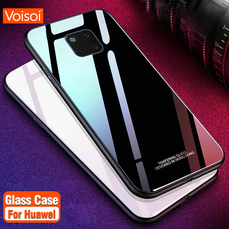 wholesale dealer 5a30a 289f2 Tempered Glass Phone Case For Huawei P20 Pro Lite Mate20 Pro Lite  Protective Mobile Phone Cover Cases For Honor V 10 Glass Cases