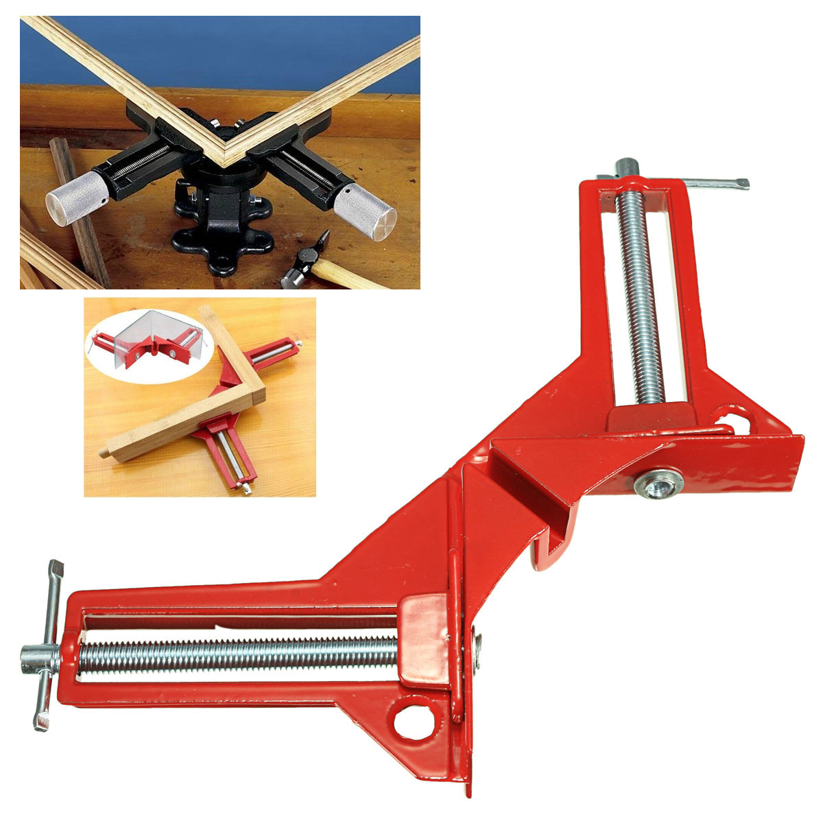 90 Degree Right Angle Picture Frame Corner Clamp Holder Woodworking Hand Kit Right Angle Corner Clamp Miter Vise Vice Picture