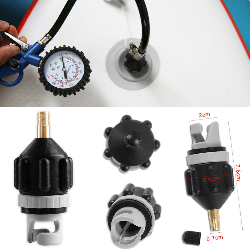 1pc Air Pump Adapter Durable Premium Rubber SUP Inflatable Pump Adapter For Boat