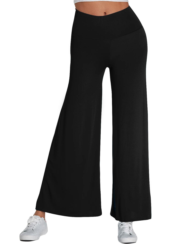 2019 Summer Winter Wide Leg   Pants   Women   Capris   Palazzo   Pants   High Waist Trousers Plus Size Long   Pants   Elastic Pantalon Femme 2XL