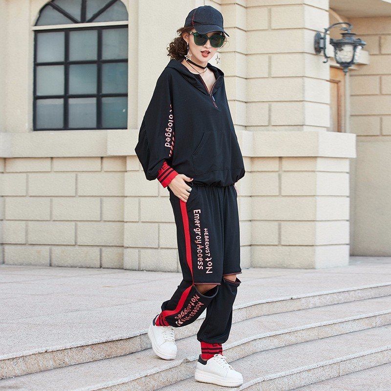 Image 4 - Max LuLu 2019 Luxury Korean Clothes Ladies Fitness Sweat Suits  Womens 2 Pieces Set Spring Outfits Tracksuit Woman Tops And  PantsWomens Sets