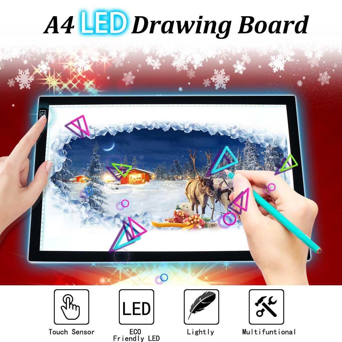 A2 Dimmable Ultra-mince led pochoir Traçage planche à dessin boîte lumineuse Pad Touchs Capteur Peinture Écriture Numérique Comprimés