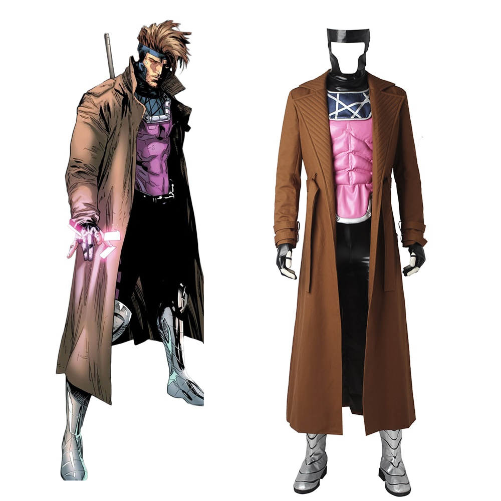 New X-Men Remy Etienne Gambit Coat Cosplay Costume Halloween Outfit