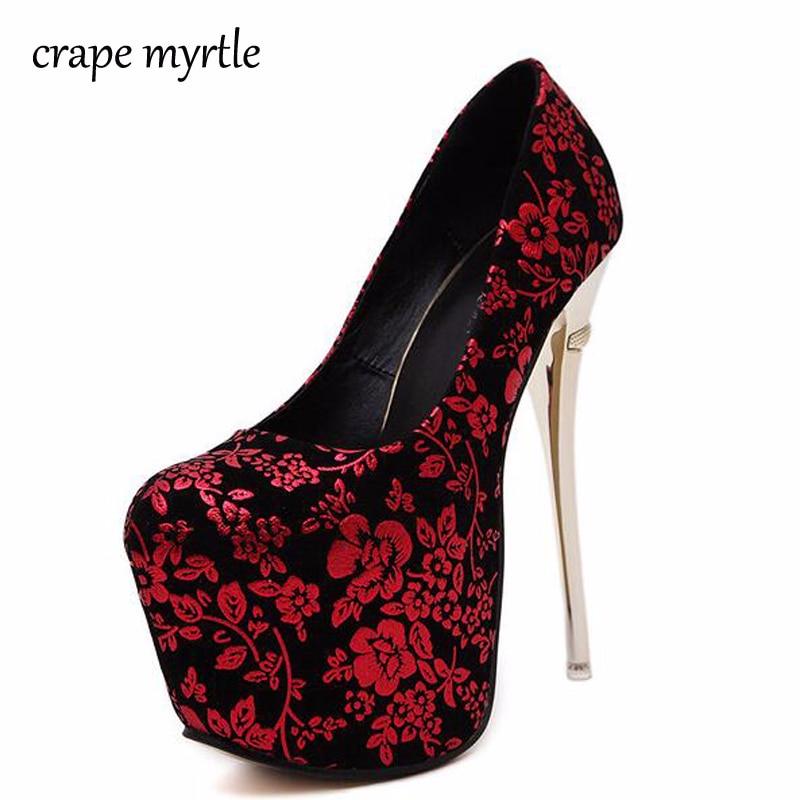 Women's Shoes With Heels Wedding Shoes 16cm Womens Heels
