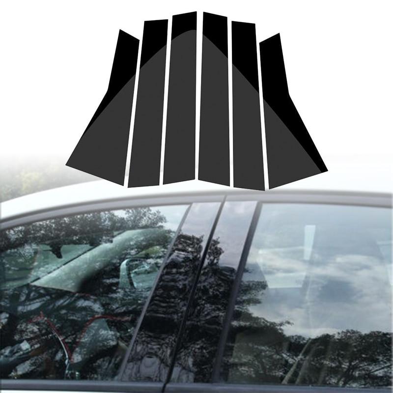 Image 5 - 6pcs Car Window Pillar Trim Decoration Cover Sticker Black Plastic High Quality Auto Window Pillar Trim For Honda CR V CRV 17 18-in Chromium Styling from Automobiles & Motorcycles