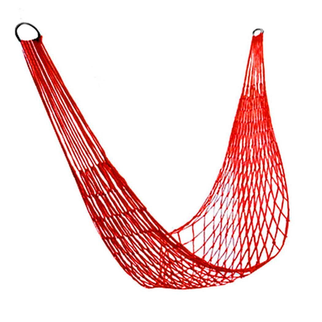 Portable Mesh Nylon Hanging Hammock Outdoor Camping Tree Hiking Travel Home, Park, Travel, Outdoor, etcPortable Mesh Nylon Hanging Hammock Outdoor Camping Tree Hiking Travel Home, Park, Travel, Outdoor, etc