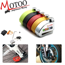 110dB сигнализация для мотоцикла мотоцикл Противоугонный сигнальные колеса дисковый тормоз безопасности сирена безопасности замок