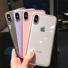 Lovebay For iPhone 6 6s 7 8 Plus X XR XS Max Phone Case Luxury Colorful Transparent Anti-shock Frame Soft TPU