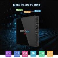 M96X PLUS TV BOX Amlogic S912 Andriod7.1 2GB RAM 16GB ROM 2.4G + 5G WiFi 1000Mbps Bluetooth4.0 Set Top Box with Remote Control