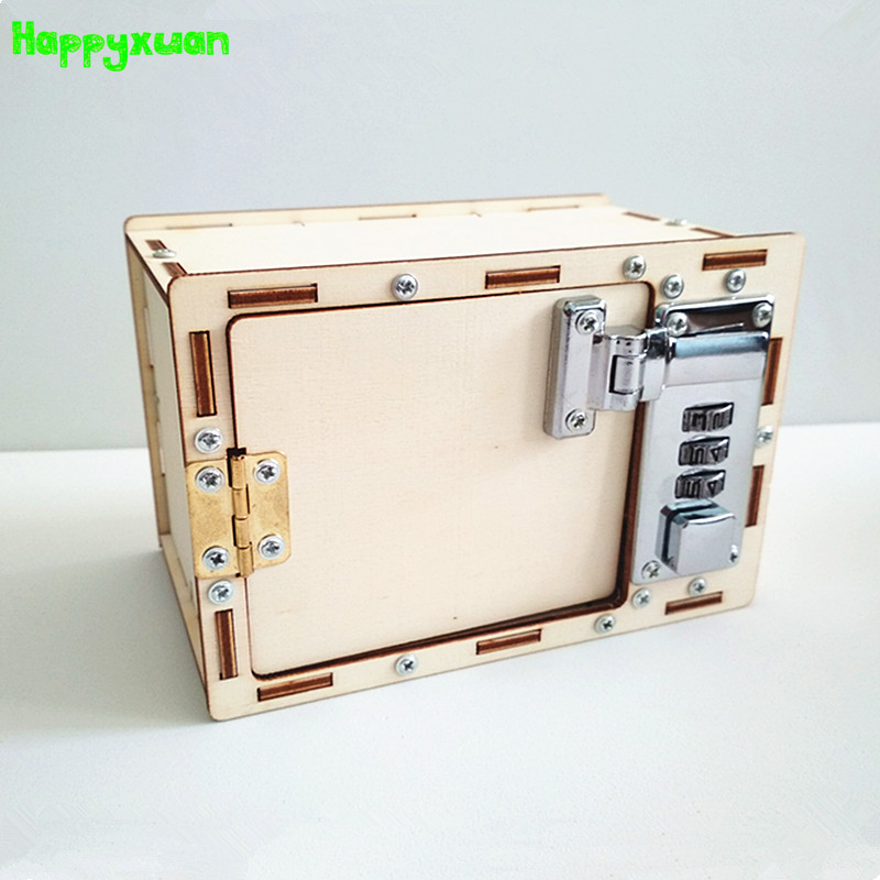 Happyxuan contraseña caja DIY niños ciencia proyectos de la escuela experimento Kits chico físico divertido juguete invento la innovación educación STEM