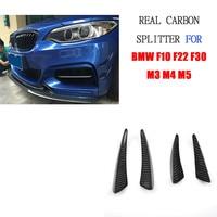 M3 M4 Real Carbon Fiber Bumper Side Shark Fins Canards For BMW E46 E90 E87 F10 F22 F30 F87 G30