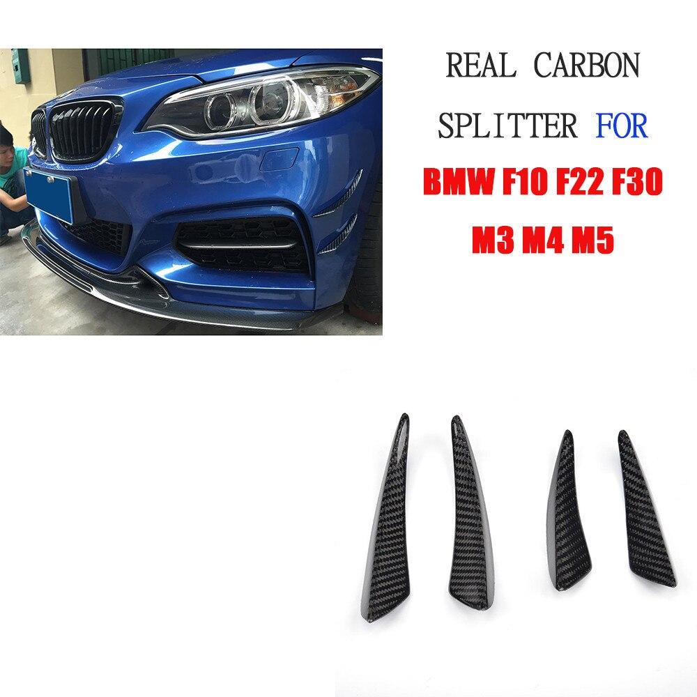 M3 M4 Real Carbon Fiber Bumper Side Shark Fins Canards For BMW E46 E90 E87 F10 F22 F30 F87 G30M3 M4 Real Carbon Fiber Bumper Side Shark Fins Canards For BMW E46 E90 E87 F10 F22 F30 F87 G30
