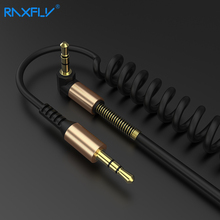 RAXFLY Jack 3.5 Audio Cable For Xiaomi redmi 5 plus Oneplus 5t Speaker Car Headphone AUX Cord Spring Cables