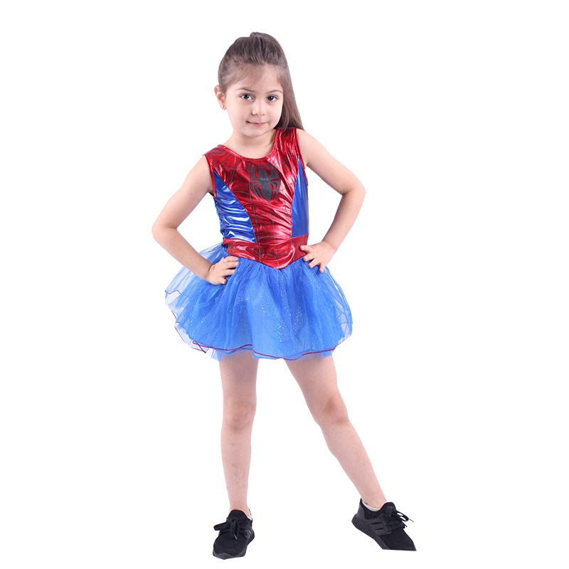 Girls Spiderman Cosplay Costume Children Spiderman Dress For Kids Halloween Costume For Kids Party Suit