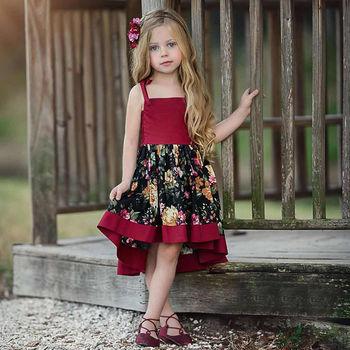 59d91f08bfeef22 Pudcoco Платье для маленьких девочек вечерние платье с длинным подолом;  праздничное платье принцессы; платье с цветочным рисунком платье принц.