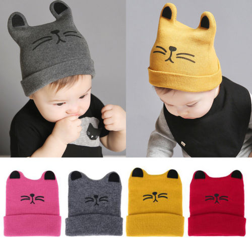 0-3 Years Unisex Toddler Kids Girl Boy Baby Infant Fashion Casual Winter Crochet Knit Hat Beanie Cap Ski Cap Knitting Wool Relieving Heat And Thirst.