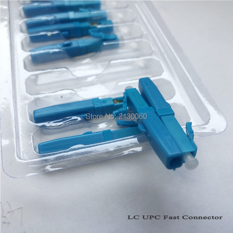 Free Shipping 100pcs/lot LC UPC Single-mode Fiber Optic Fast Connector LC Embedded Type FTTH Fiber Optic Quick Connector
