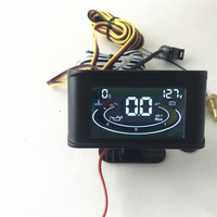 Universal 3 Function 12v/24v Truck Car Oil Pressure Gauge + Voltmeter Voltage Gauge + Water Temperature Gauge Meter With Sensors