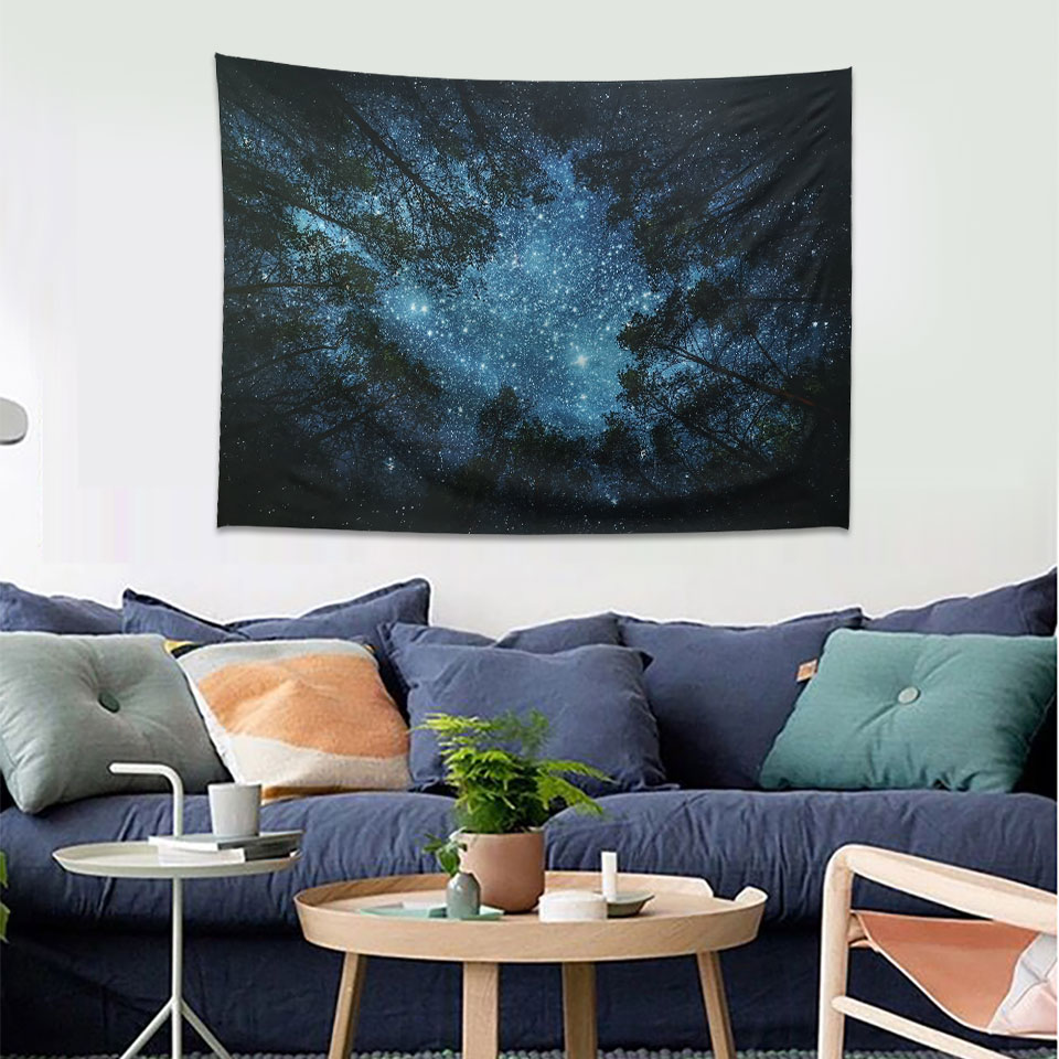 Wall Tapestry Psychedelic Starry Night Tapestry Wall ...