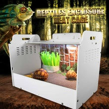 White Reptiles Terrariums Enclosure Heating Cage Lizard Frogs Snake Turtle Tank With Lock Breeding Box Reptiles Supplies