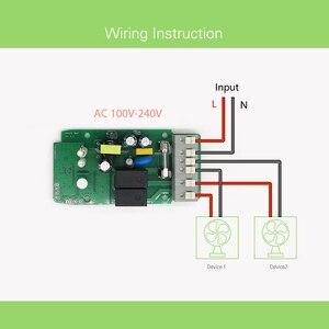 Image 5 - Sonoff כפולה R2 2CH Wifi חכם מתג בית שלט רחוק אלחוטי מתג אוניברסלי מודול טיימר מתג בית חכם בקר