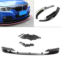 Front Bumper Lip For BMW F30 3 Series M Style 2012 2013 2014 2015 2016 2017 2018 Automobile Accessories 2pcs Glossy Black Style