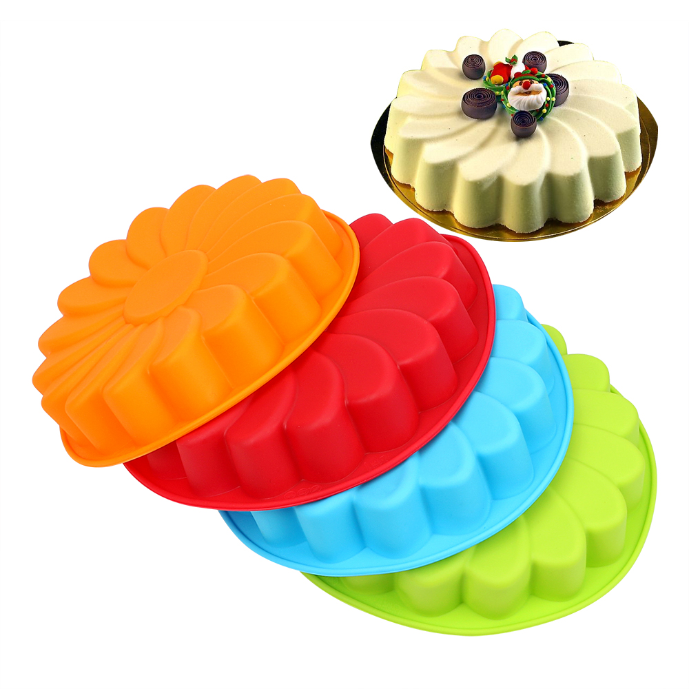 Silicone Mold For Baking Cookie Mould Kitchen Pastry Cake Decorating Tool DIY 3D Sunflower Form Fondant Cake image