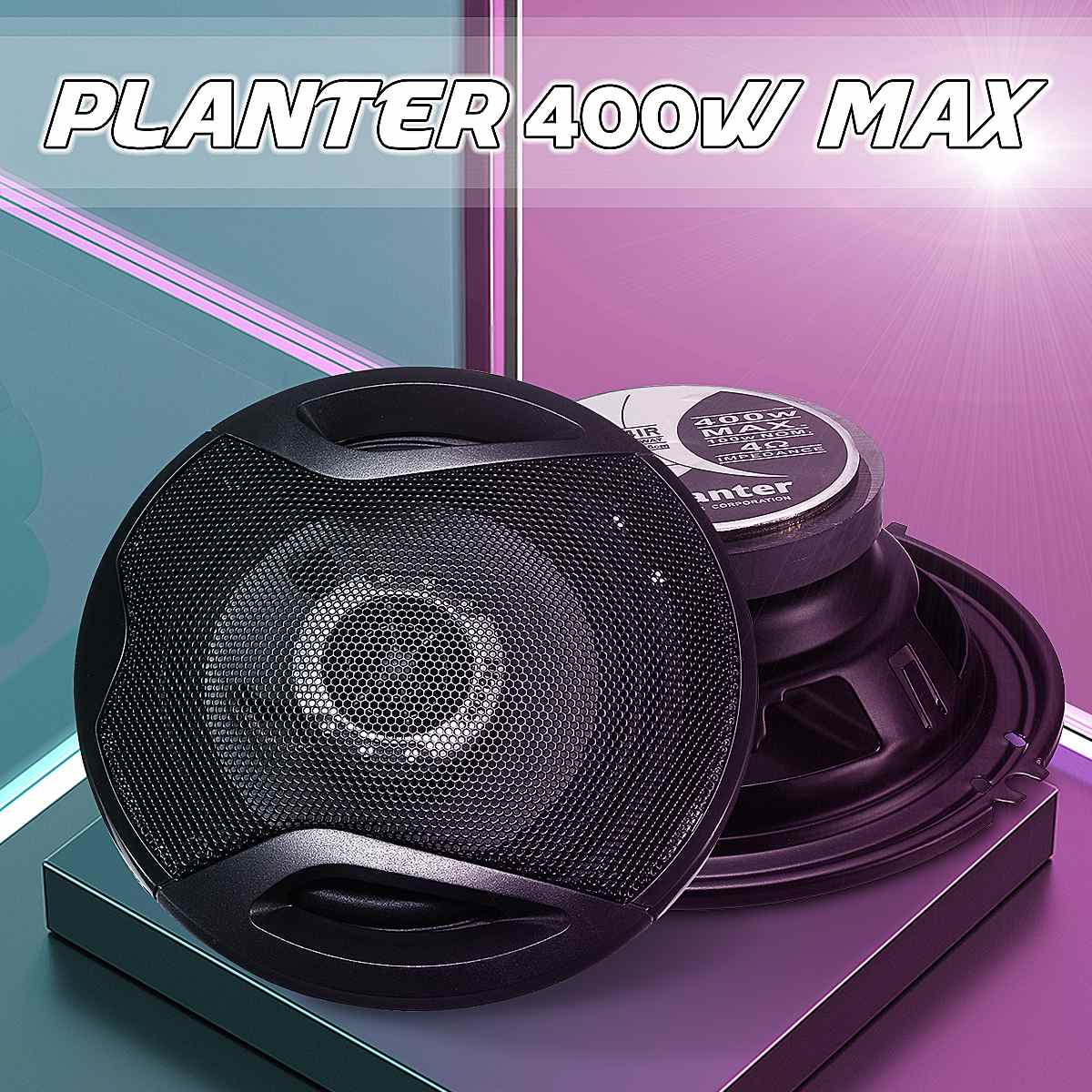Loud Speakers Subwoofer Vehicle Hifi Stereo Full-Range 2PCS Frequency Voice-4-Coil