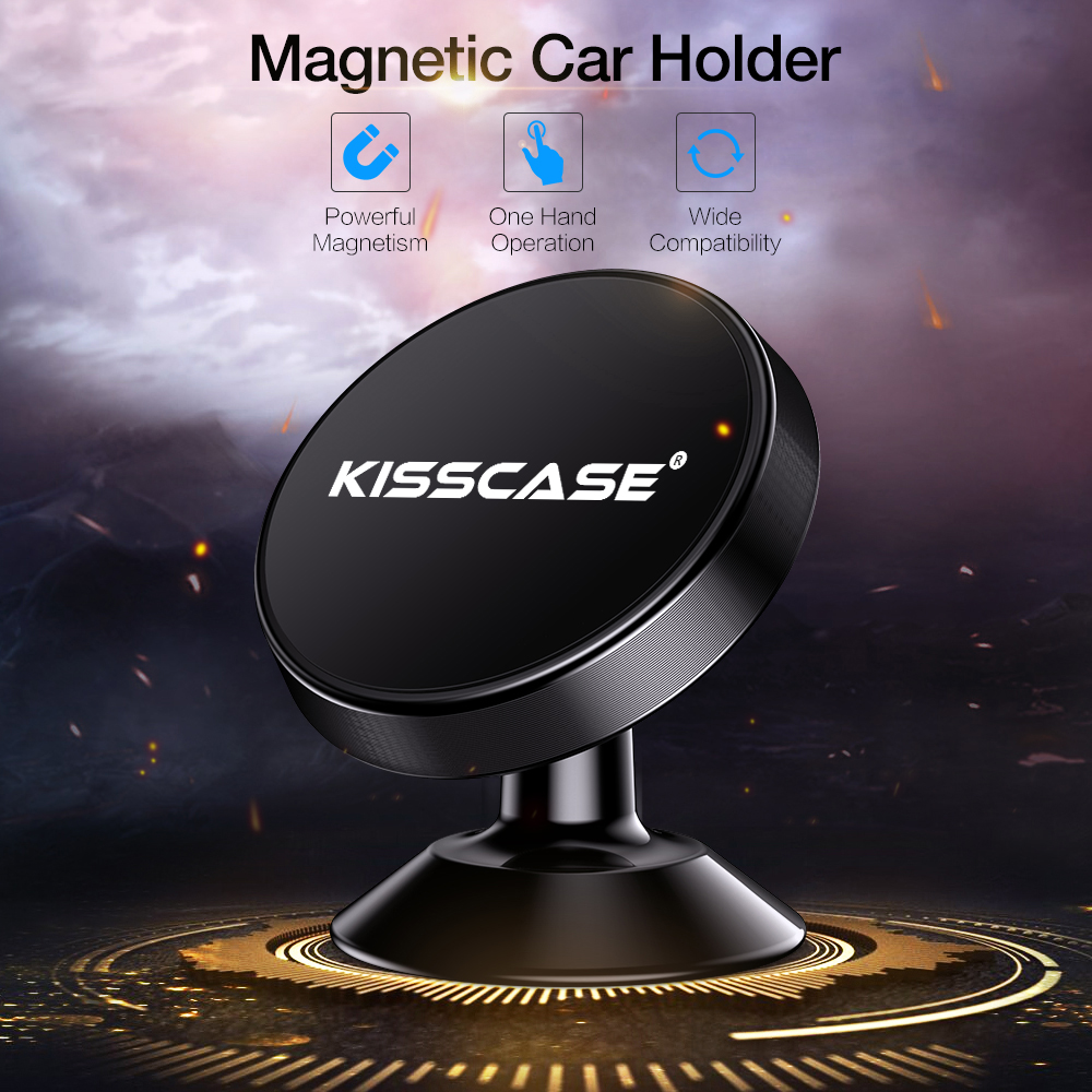 KISSCASE Magnetic Car Phone Holder For iPhone X 7 8 Support voiture Stand Magnet in