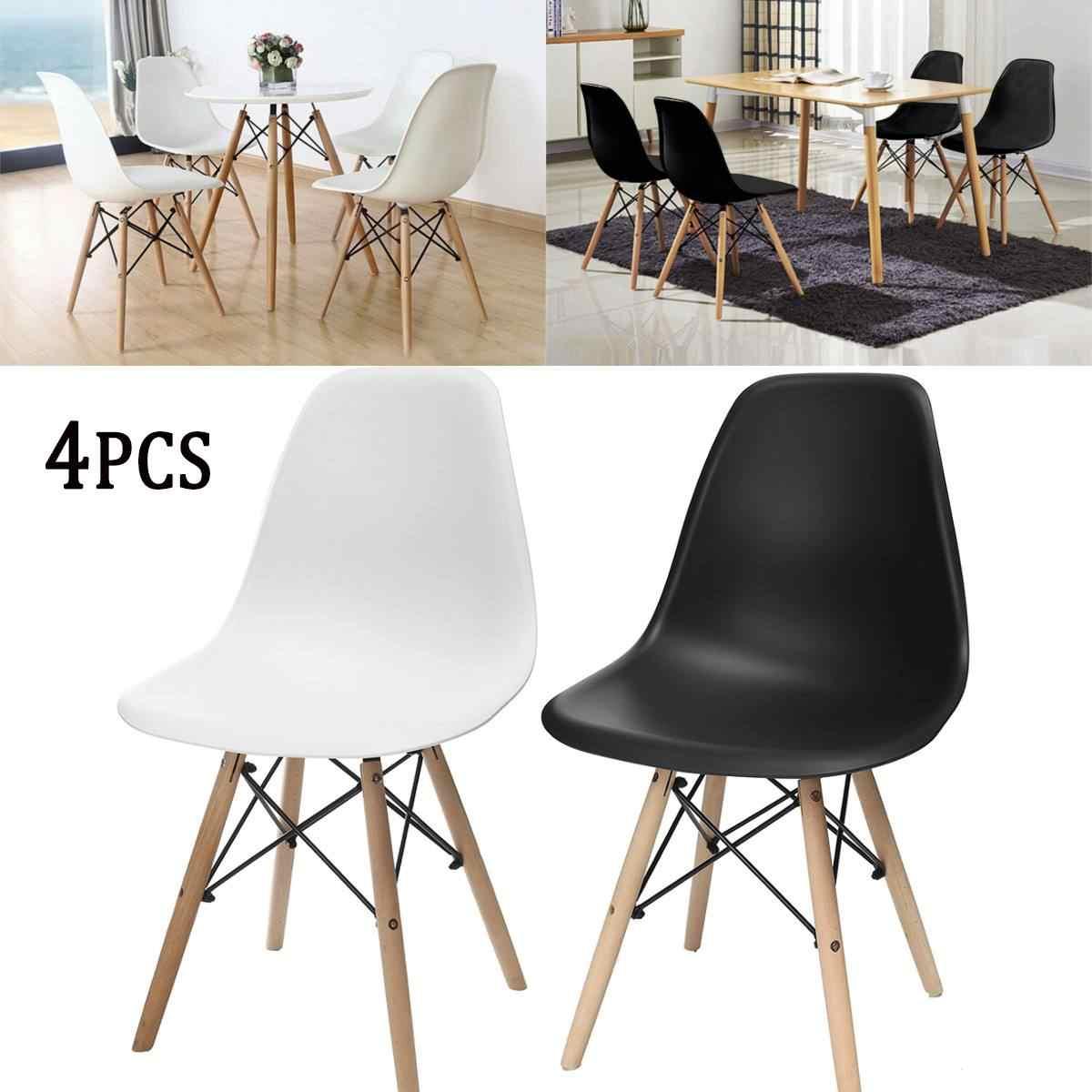 4 шт. 81*46*40 см современные деревянные обеденные стулья минималистичное компьютерное офисное кресло для переговорной повседневной домашней спинки кофейное кресло мебель