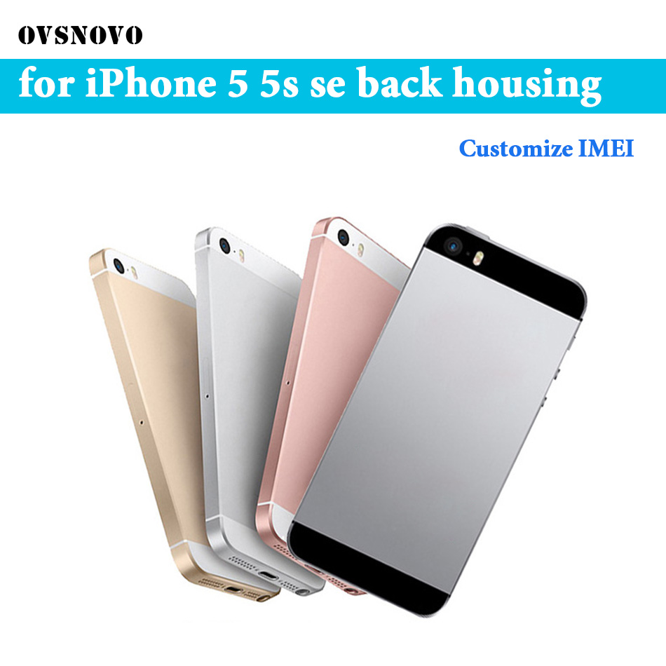 Back Housing For IPhone 5 5s Battery Cover Custom Housing Case For IPhone SE Middle Chassis Body Replacement +Buttons&Sim Tray