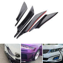 4Pcs Car Spoiler Canards Fit Front Bumper Lip Splitter Fin Air Knife Auto Body Kit Valence Chin Accessory Car Styling(China)