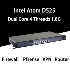 Firewall mikrotik pfsense vpn rede dispositivo de segurança roteador pc intel atom d525, [hunsn sa03r],(4lan/2usb2.0/1com/1vga/fan)
