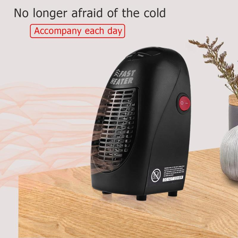 Portable Fan Heater Wall Mounted Electric Heater Mini Handheld Air Warmer Stove Radiator Machine Handy Heating Fan for Winter dmwd electric heater mini hot air heating fan machine portable personal winter warmer desktop stove radiator home office eu plug