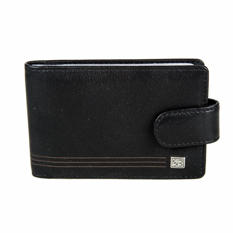 Business Card Holder Sergio Belotti 2346A West black large capacity card holder multifunctional wallet