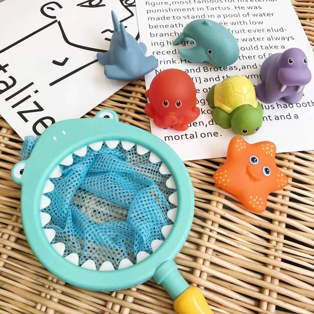 Children Swimming Salvage Music 7 Paper Set Can Water Spray Squeezed Called Flexible Glue Animal Fish Take A Shower Toys