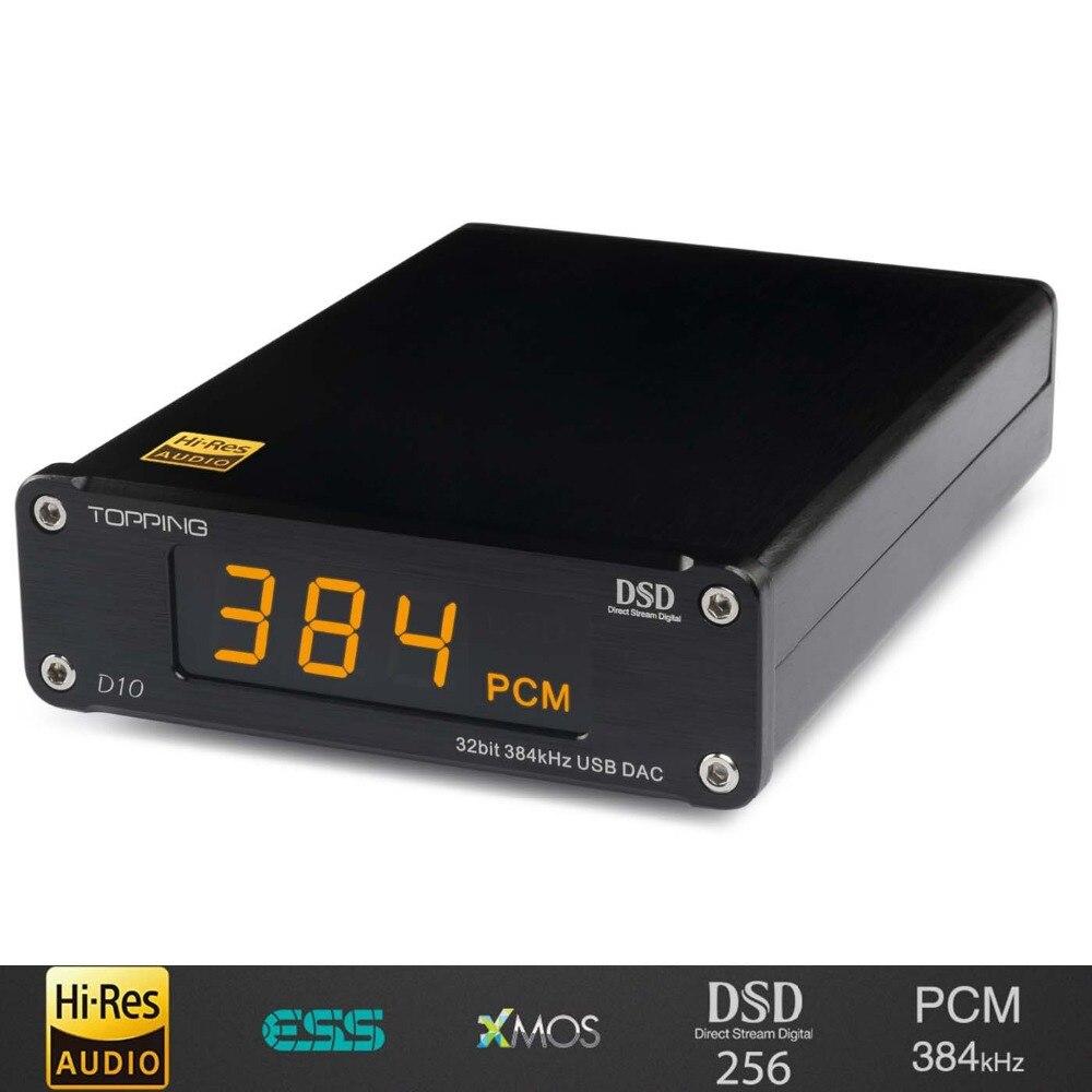 2018 nouveau TOPPING D10 MINI USB DAC CSS XMOS XU208 ES9018K2M OPA2134 décodeur amplificateur audio