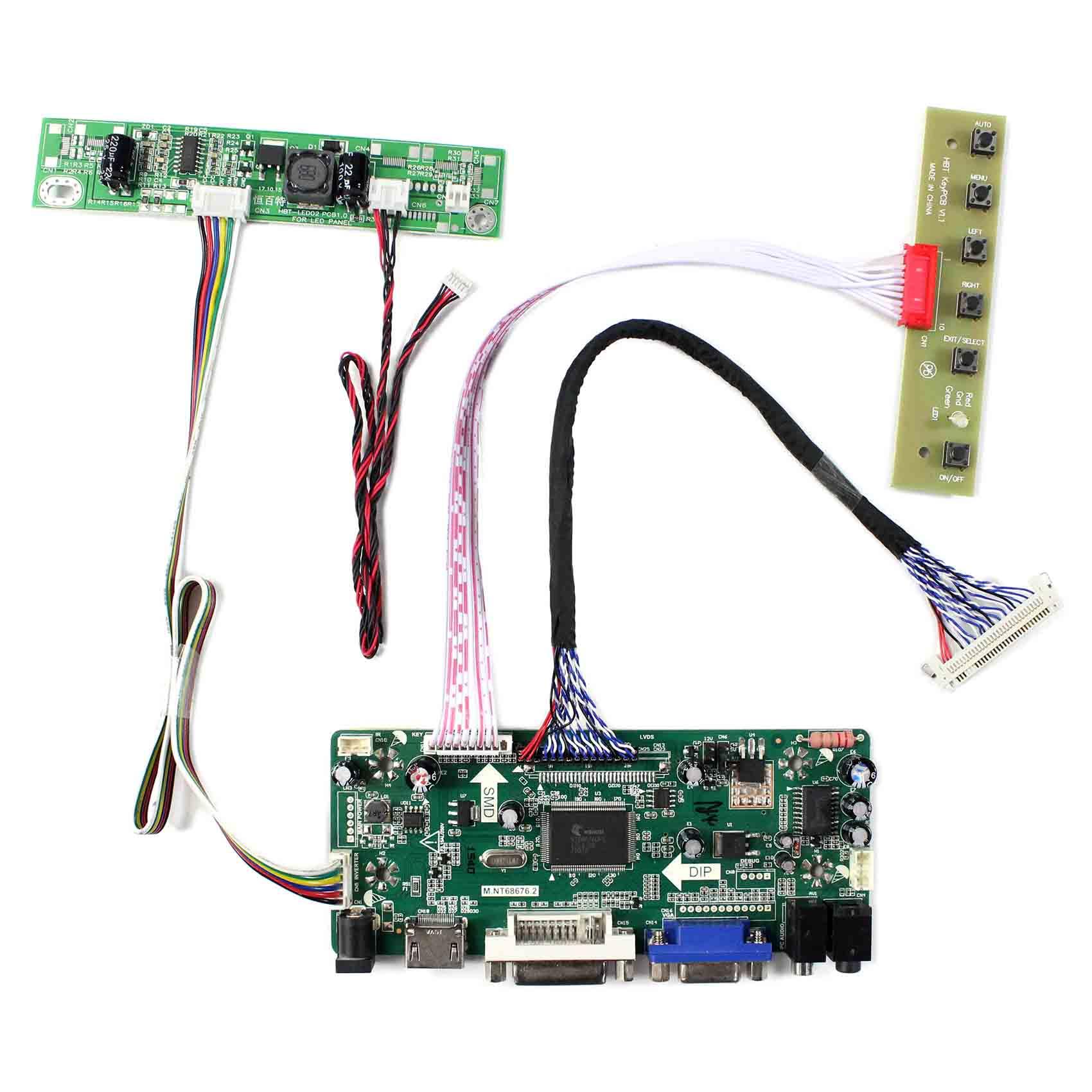 HDMI DVI VGA Audio Controller Board for M215HW01 VB 21 5inch 1920x1080 LCD Screen