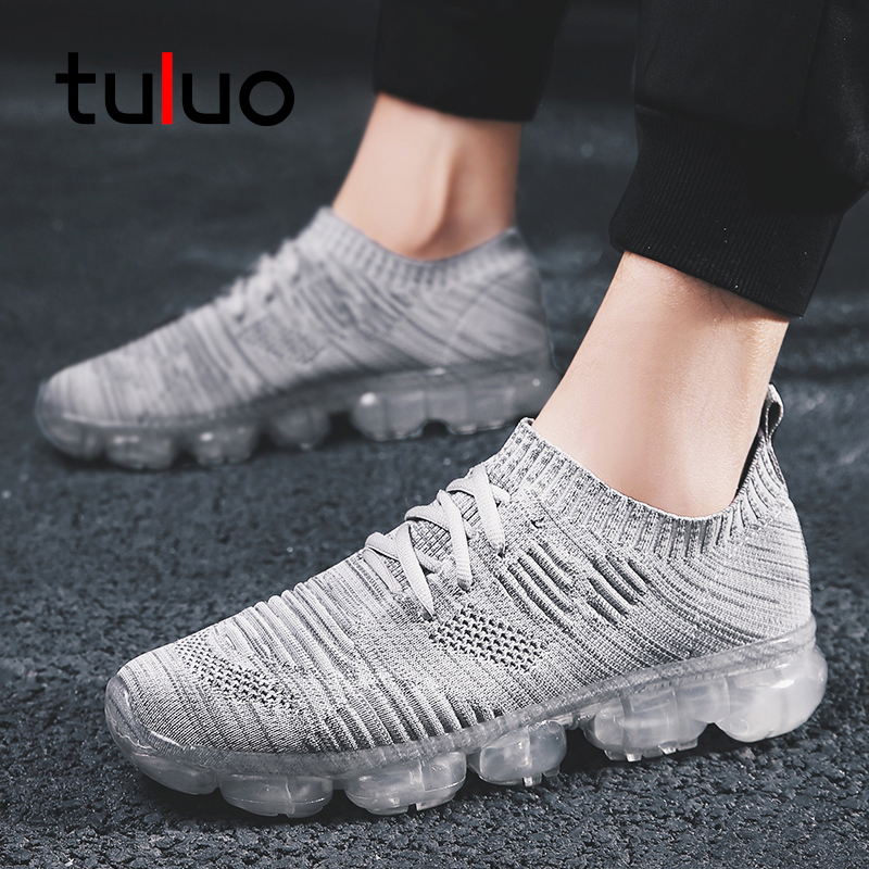 TULUO Fashion Men Running Shoes Comfortable Breathable Air Mesh Summer Outdoor Fitness Athletic Jogging Walking Man Sneakers